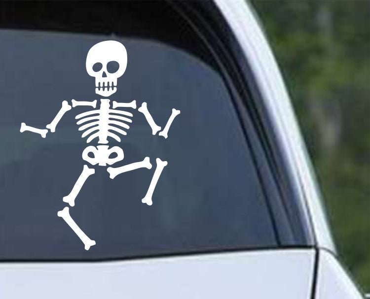 Dancing Skeleton Die Cut Vinyl Decal Sticker - Decals City