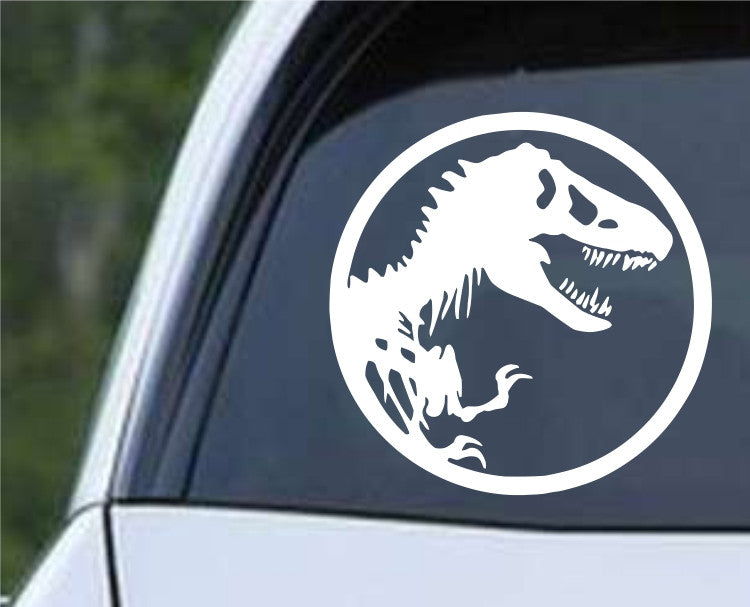 Dinosaur Bones Silhouette Die Cut Vinyl Decal Sticker - Decals City