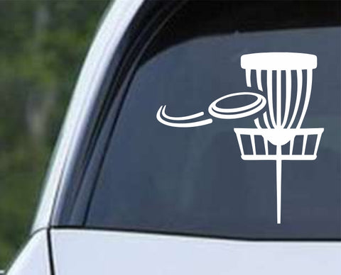 Disc Golf - Basket v2 Die Cut Vinyl Decal Sticker - Decals City