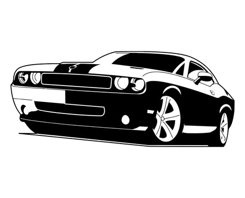 Dodge Challenger 2008 Die Cut Vinyl Decal Sticker - Decals City