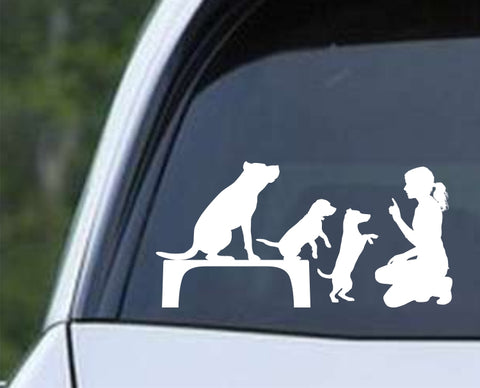 Dog Training Silhouette v1 Die Cut Vinyl Decal Sticker - Decals City