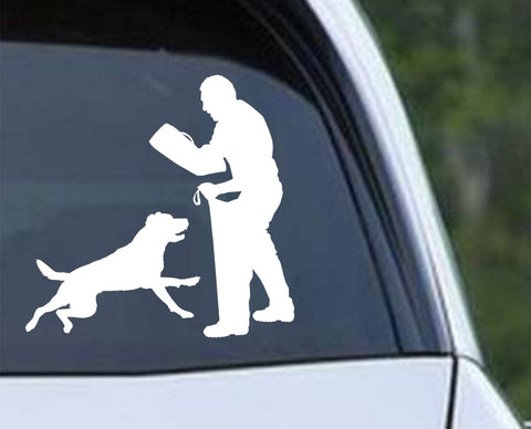 Dog Training Silhouette v2 Die Cut Vinyl Decal Sticker - Decals City