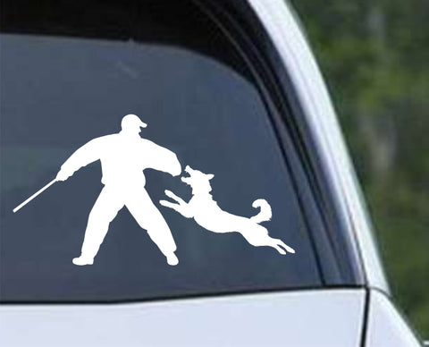 Dog Training Silhouette v3 Die Cut Vinyl Decal Sticker - Decals City