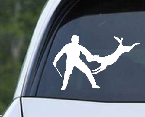 Dog Training Silhouette v4 Die Cut Vinyl Decal Sticker - Decals City