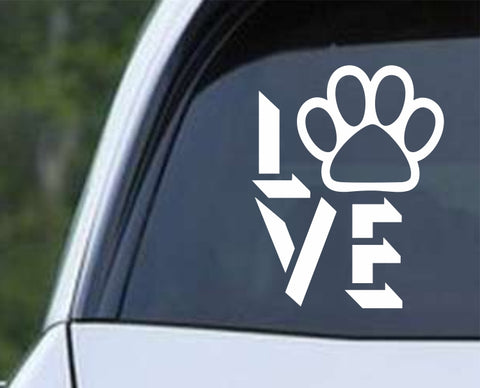 Dog Love v2 Die Cut Vinyl Decal Sticker - Decals City