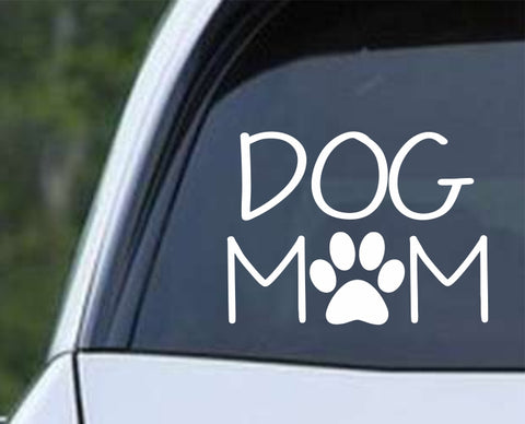 Dog Mom Paw Print Die Cut Vinyl Decal Sticker - Decals City