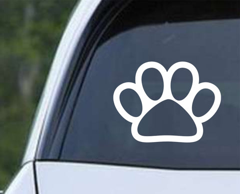 Dog Paw Print v2 Die Cut Vinyl Decal Sticker - Decals City