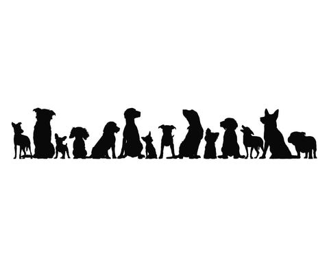 Dogs Silhouette Die Cut Vinyl Decal Sticker