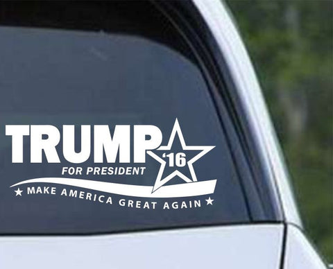 Donald Trump 2016 Make America Great Again Die Cut Vinyl Decal Sticker - Decals City