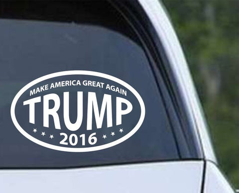 Donald Trump 2016 Make America Great Again Oval Die Cut Vinyl Decal Sticker - Decals City
