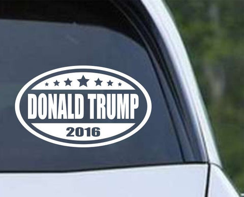 Donald Trump 2016 Euro Oval Die Cut Vinyl Decal Sticker - Decals City