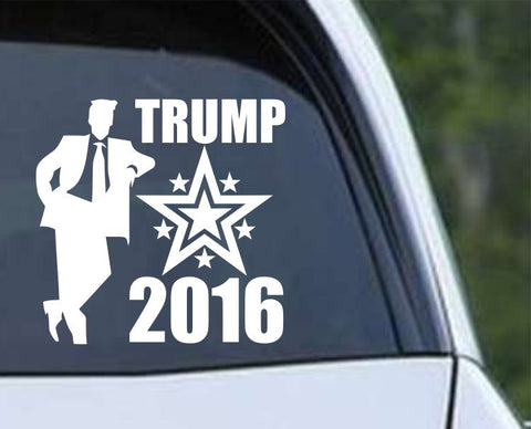 Donald Trump 2016 Standing Stars Die Cut Vinyl Decal Sticker - Decals City
