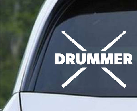 Drummer - Cross Sticks Die Cut Vinyl Decal Sticker