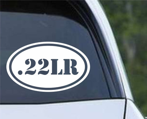 .22LR Bullet Ammo Rifle Euro Oval Die Cut Vinyl Decal Sticker - Decals City