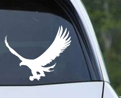 Eagle Silhouette (ver c) Die Cut Vinyl Decal Sticker - Decals City