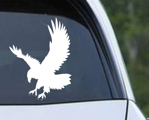 Eagle Silhouette (ver e) Die Cut Vinyl Decal Sticker - Decals City