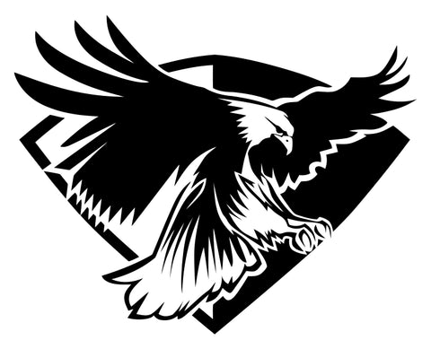 Eagle (ver b) Die Cut Vinyl Decal Sticker - Decals City