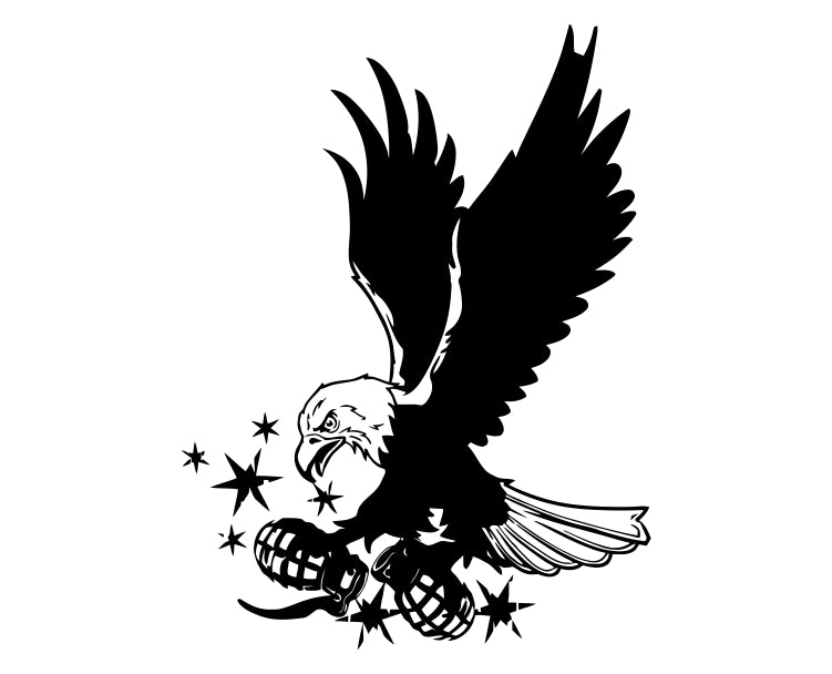 Eagle (ver c) Die Cut Vinyl Decal Sticker - Decals City