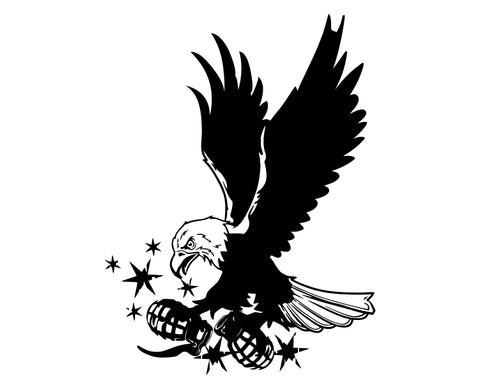 Eagle (ver c) Die Cut Vinyl Decal Sticker