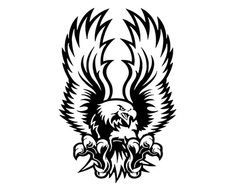 Eagle (ver d) Die Cut Vinyl Decal Sticker - Decals City