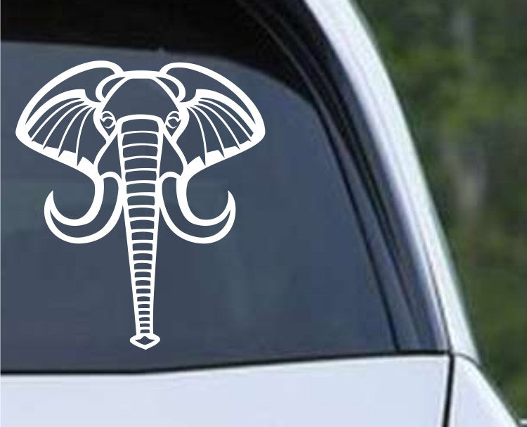 Elephant Head (b) Die Cut Vinyl Decal Sticker - Decals City