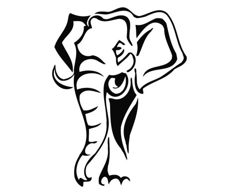 Elephant Head (d) Die Cut Vinyl Decal Sticker - Decals City
