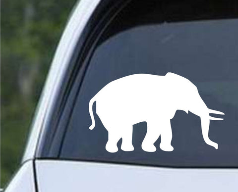 Elephant Silhouette (b) Die Cut Vinyl Decal Sticker - Decals City