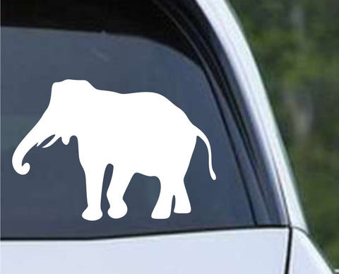 Elephant Silhouette (c) Die Cut Vinyl Decal Sticker - Decals City