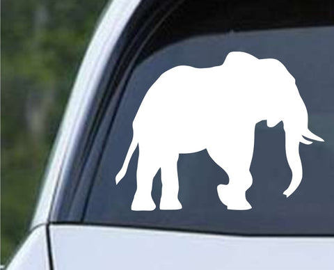 Elephant Silhouette (e) Die Cut Vinyl Decal Sticker - Decals City