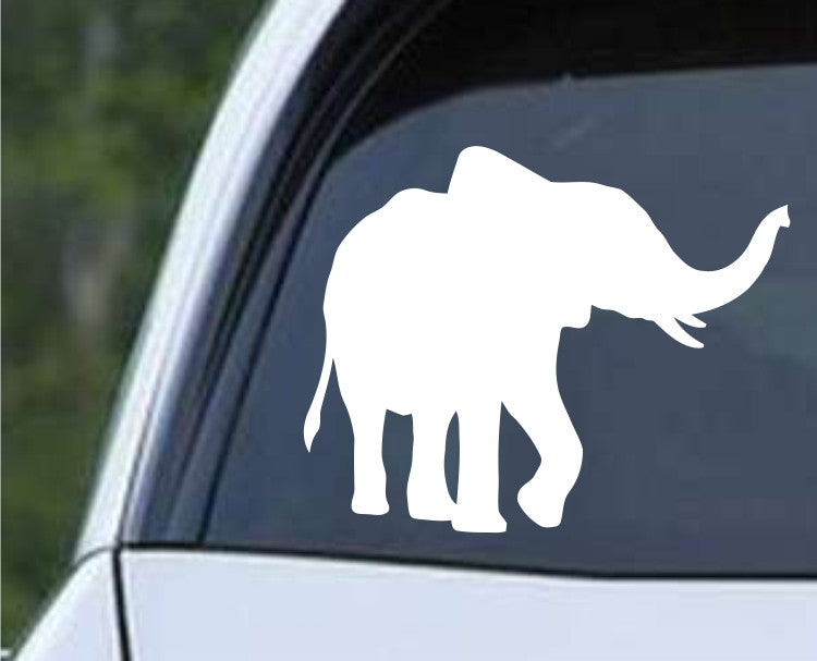 Elephant Silhouette (f) Die Cut Vinyl Decal Sticker - Decals City