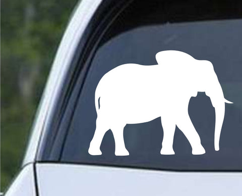 Elephant Silhouette (g) Die Cut Vinyl Decal Sticker - Decals City