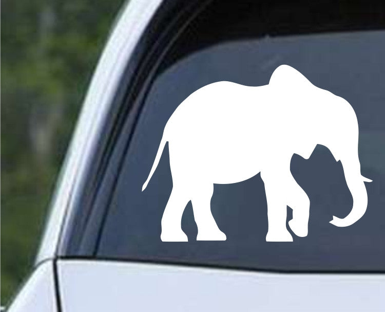 Elephant Silhouette (h) Die Cut Vinyl Decal Sticker - Decals City
