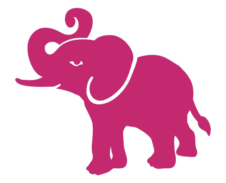 Elephant Silhouette (i) Die Cut Vinyl Decal Sticker - Decals City