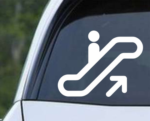 Escalator Symbol Icon Stairs Die Cut Vinyl Decal Sticker - Decals City