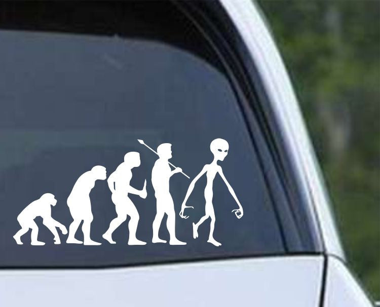 Alien Evolution Die Cut Vinyl Decal Sticker - Decals City