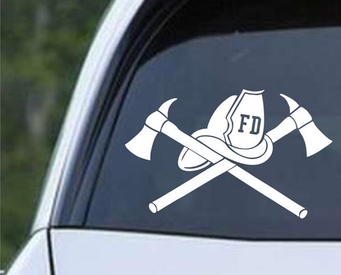 Fire Department Fireman (01) Die Cut Vinyl Decal Sticker - Decals City