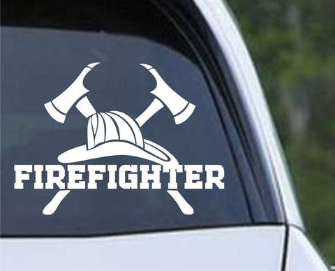 Fire Department Fireman (02) Die Cut Vinyl Decal Sticker - Decals City