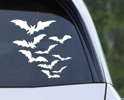 Flying Bats (01) Die Cut Vinyl Decal Sticker