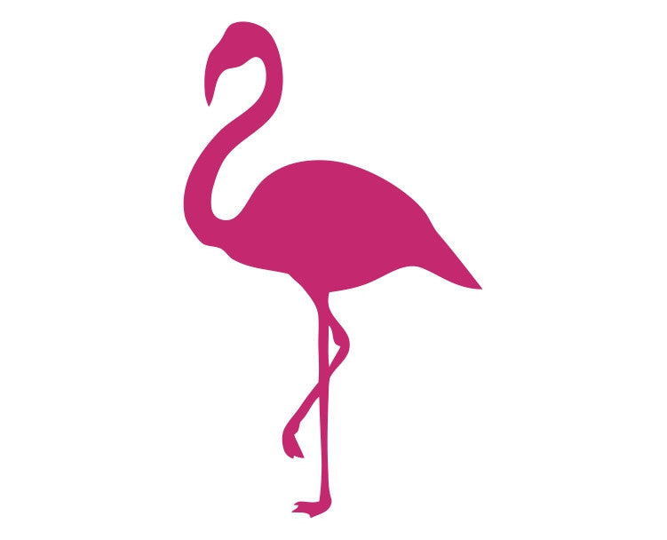 Flamingo Silhouette Die Cut Vinyl Decal Sticker - Decals City