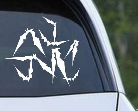 Flying Bats (03) Die Cut Vinyl Decal Sticker