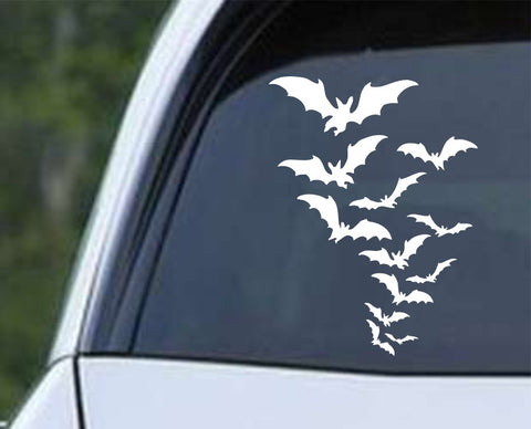 Flying Bats (05) Die Cut Vinyl Decal Sticker - Decals City