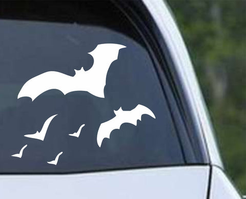 Flying Bats (02) Die Cut Vinyl Decal Sticker - Decals City