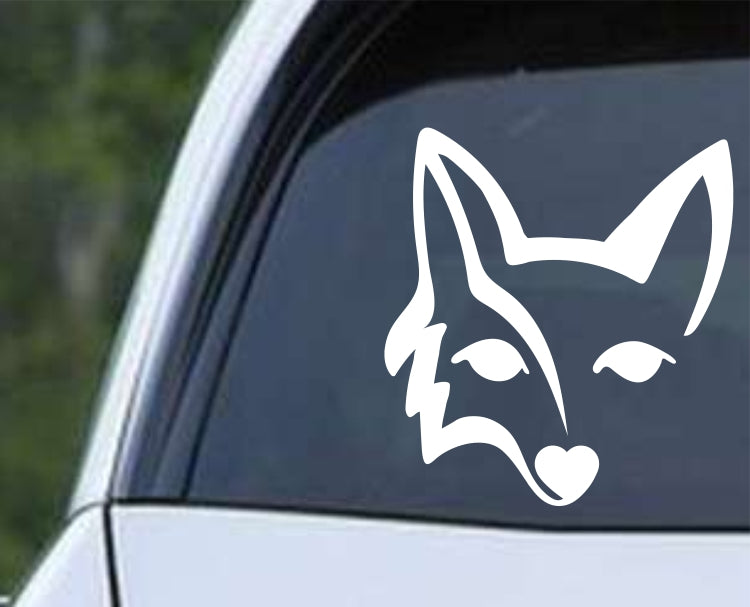 Fox Head Die Cut Vinyl Decal Sticker - Decals City