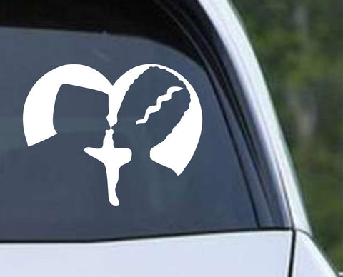 Frankenstein and Bride of Frankenstein Die Cut Vinyl Decal Sticker - Decals City