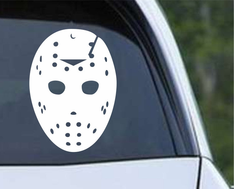 Friday the 13th Jason (a) Mask Die Cut Vinyl Decal Sticker - Decals City
