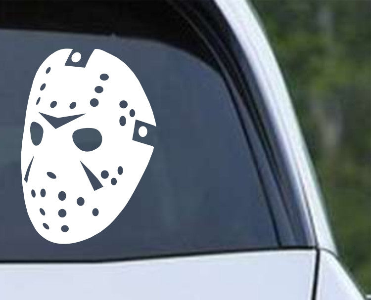 Friday the 13th Jason (c) Mask Die Cut Vinyl Decal Sticker - Decals City