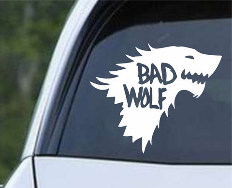 Game Of Thrones - Bad Wolf Stark Direwolf Dr Who and GOT Mash Up Die Cut Vinyl Decal Sticker