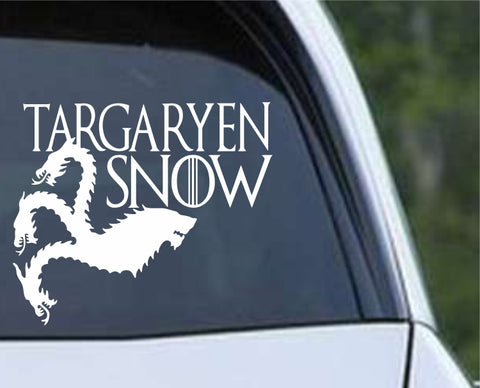 Game Of Thrones GOT - Targaryen Snow Danaerys and Jon Die Cut Vinyl Decal Sticker