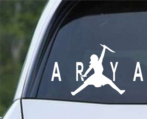 Game Of Thrones - Arya Air Jordon Stark Die Cut Vinyl Decal Sticker - Decals City