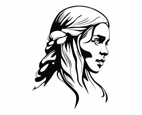 Game Of Thrones GOT - Daenaerys Die Cut Vinyl Decal Sticker
